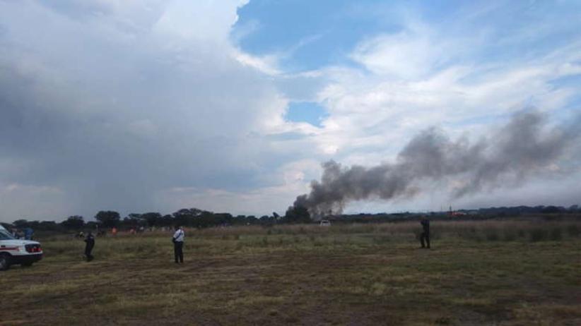 Katastrofa lotnicza w Meksyku. Samolot stanął w płomieniach