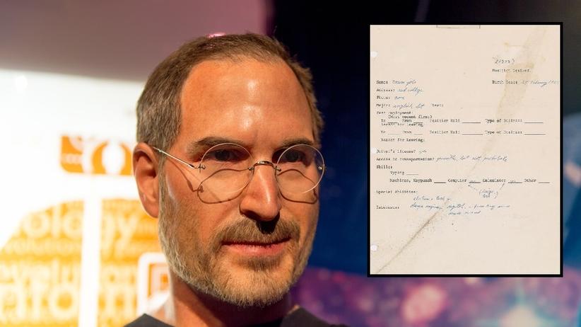 Tak wygląda pierwsze CV Steve'a Jobsa [FOTO]