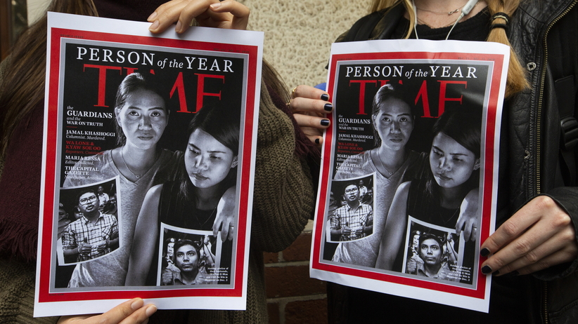 """Człowiek Roku według magazynu """"Time"""" to zamordowani i prześladowani dziennikarze"""