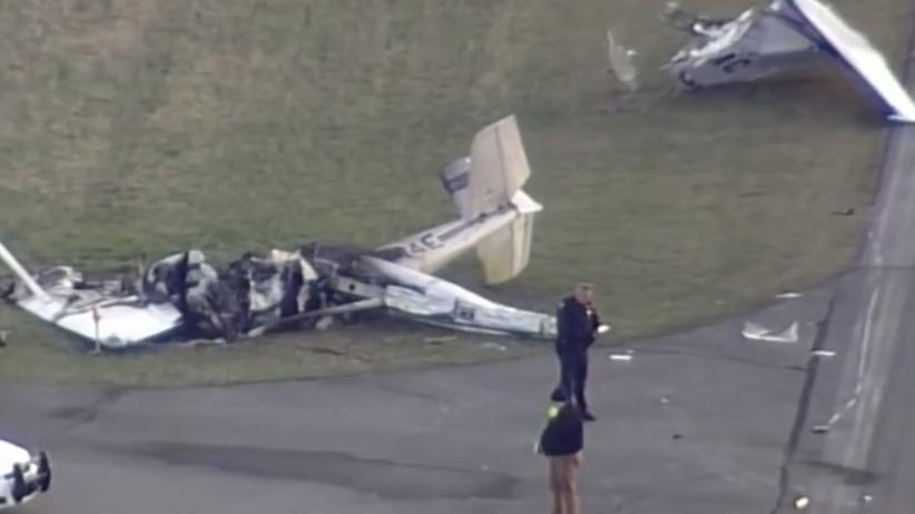 Zderzenie samolotów lotnisko Marion