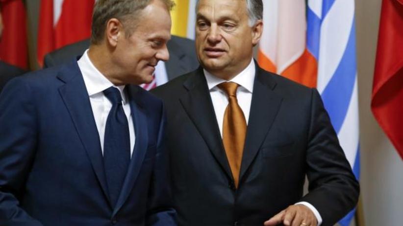 Tusk i Orban