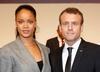 Emmanuel Macron spróbował objąc Rihannę. Gwiazda nie kryła zaskoczenia
