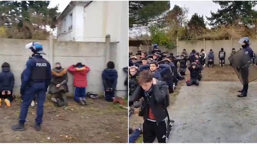 Francja. Dziesiątki uczniów klęczało przed policją. Oburzenie po upokarzającym nagraniu
