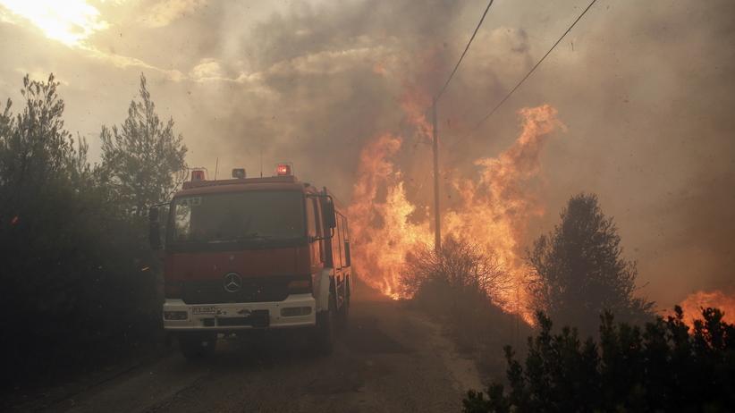 Grecja. Tragiczne pożary. 1 osoba nie żyje, 25 rannych