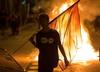 Hiszpania. Zamieszki w Katalonii w rocznicę referendum