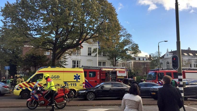 Holandia Mężczyzna chciał się podpalić w polskiej ambasadzie