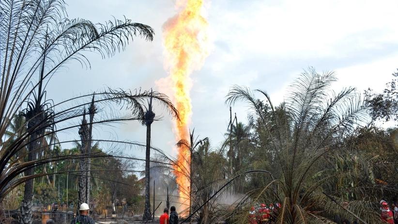 Przerażający pożar szybu naftowego. Już 21 ofiar śmiertelnych