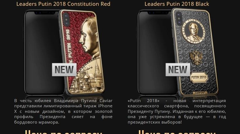 Złoty iPhone z profilem Putina. Tak rosyjska firma uczciła urodziny władcy Rosji