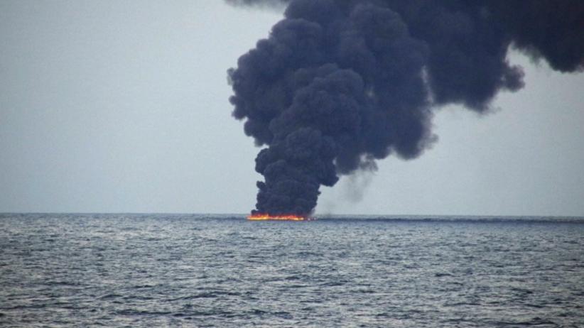"""Spłonął irański tankowiec: """"Nie ma nadziei na odnalezienie członków załogi"""""""