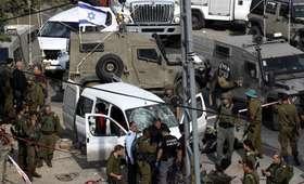 Palestyńczycy wjechali autem w izraelskich żołnierzy. Doszło do strzelaniny