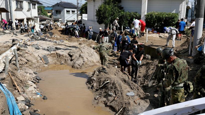 Japonia powódź