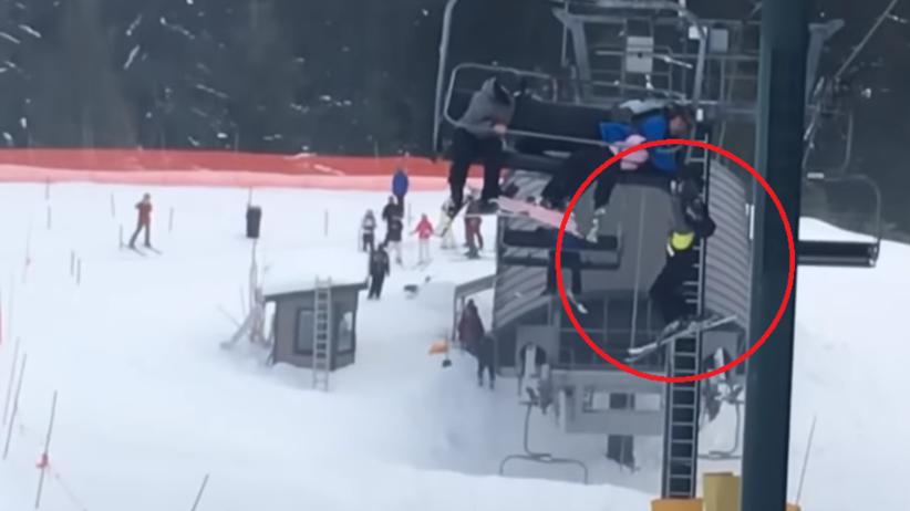 Ośmiolatek spadł z wyciągu krzesełkowego. Uratowała go grupa nastolatków [WIDEO]