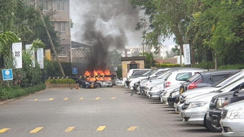 Strzały i eksplozje w okolicy kompleksu hotelowego w Nairobi