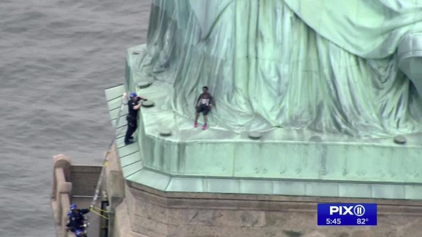 Statua Wolności protest