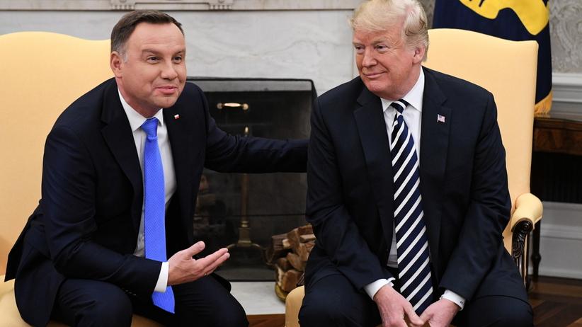 Briefing Trumpa i Dudy. Dziennikarze mało zainteresowani wizytą polskiego prezydenta