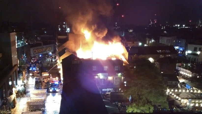 Pożar na słynnym targowisku w Londynie
