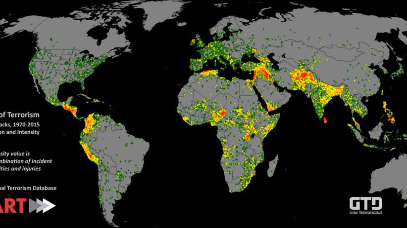 Mapy zamachów terrorystycznych z lat 2012-15. Zobacz, gdzie jest najbezpieczniej