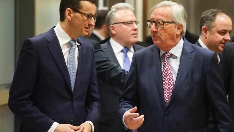 """Morawiecki i Juncker spotkają się ponownie. ''Kolacja przebiegła w przyjaznej atmosferze"""""""
