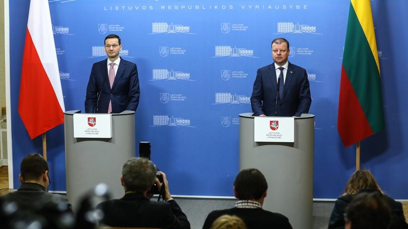 Mateusz Morawiecki z wizytą w Wilnie: dziękuję Litwie za wsparcie w sporach, które toczymy w UE