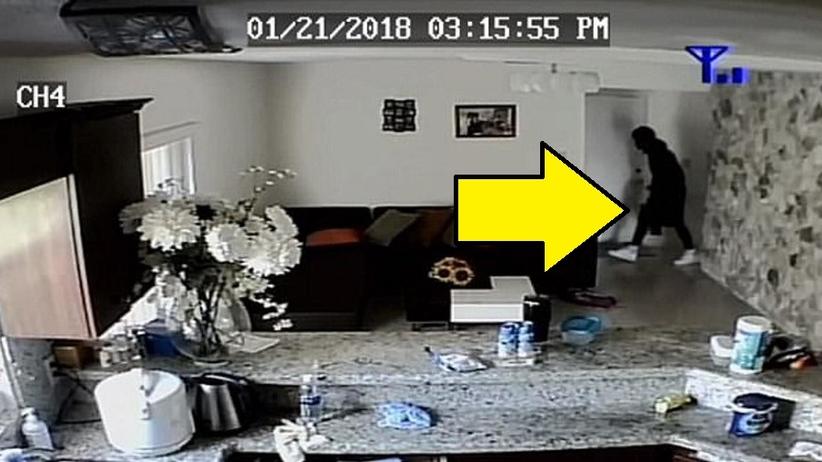 Matka na żywo w telefonie oglądała włamanie do swojego domu. W środku było dziecko