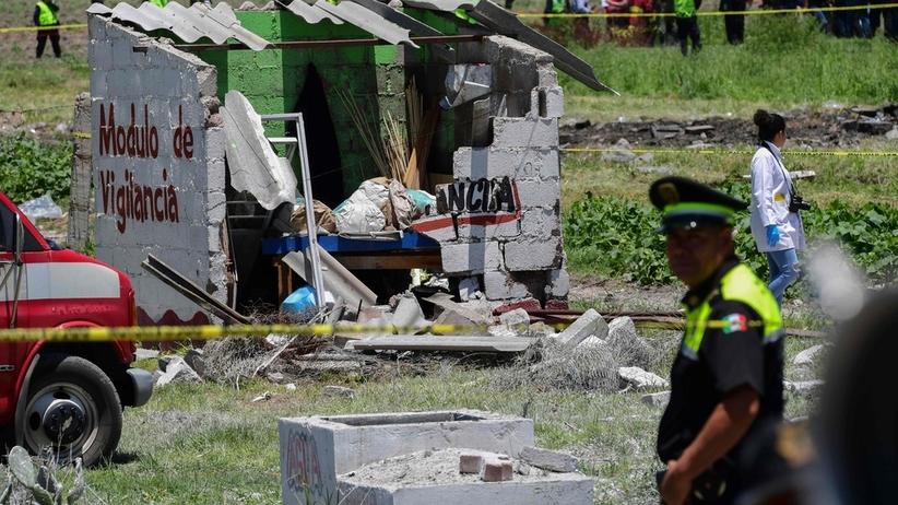 Wybuch fajerwerków w Meksyku
