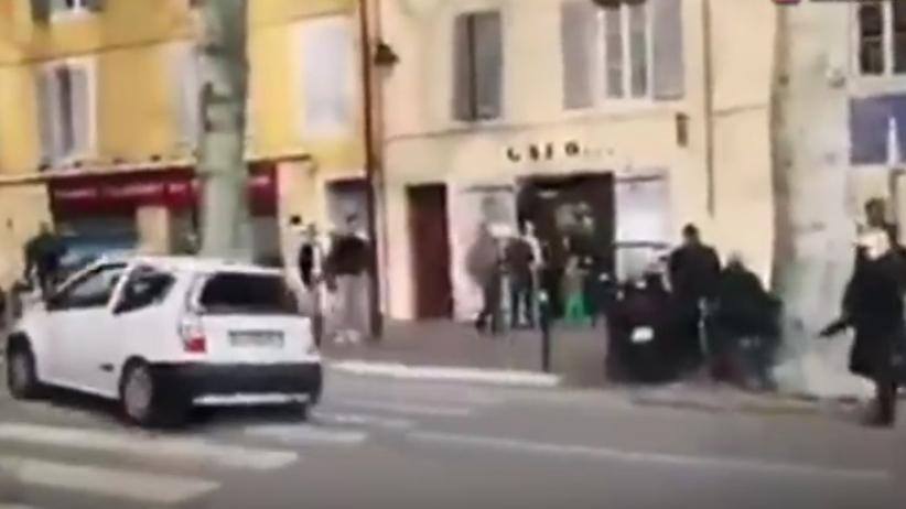 Atak na motocyklistów we Francji