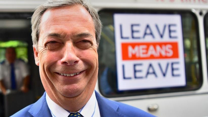 Nigel Farage odszedł z partii UKIP. Był największym zwolennikiem brexitu