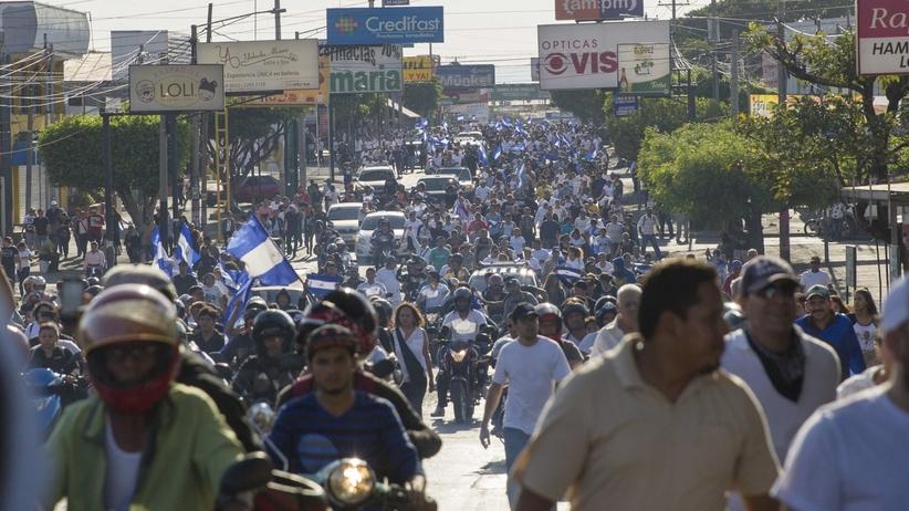 protesty w nikaragui