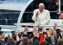 Papież rozpoczął wizytę na Litwie. Spotkał się z podopiecznymi polskiego hospicjum