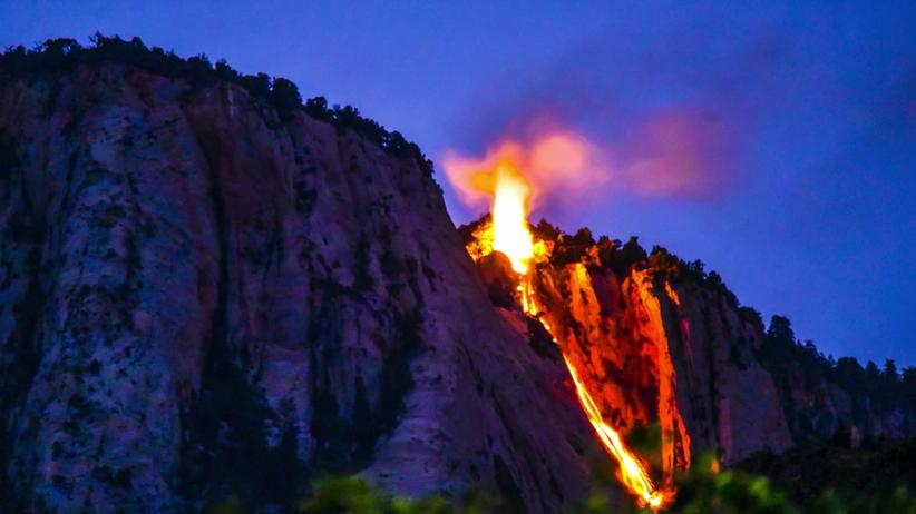 Park Yosemite, USA: Ognisty wodospad gratką dla turystów [ZDJĘCIA]
