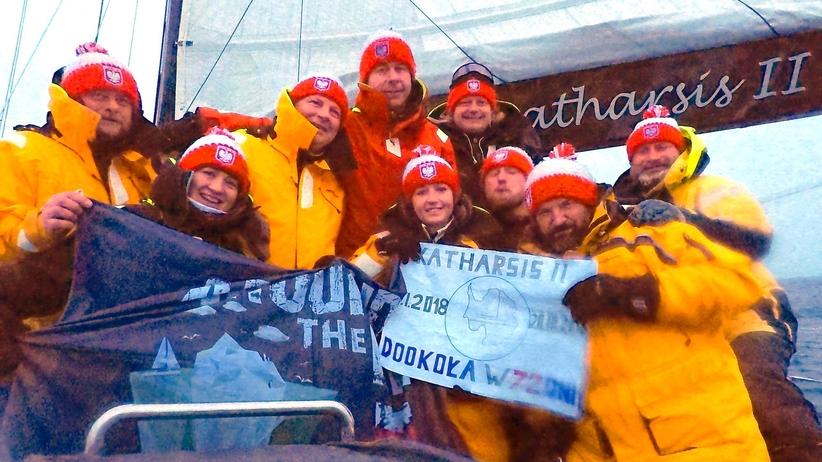 Polacy na jachcie Katharsis II opłynęli Antarktydę