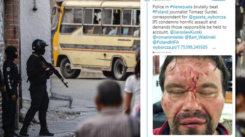 """Polski dziennikarz brutalnie pobity w Wenezueli przez """"szwadrony śmierci"""". Założyli mu worek na głowę i katowali"""