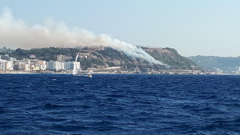 Pożar w Rodos