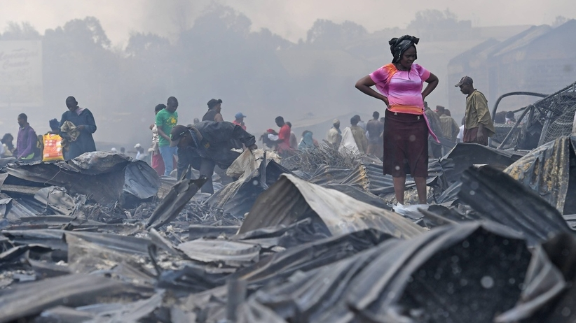 Pożar na targowisku w Kenii