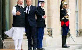 Premier Indii w Paryżu zapewnia Macrona o poparciu paktu klimatycznego