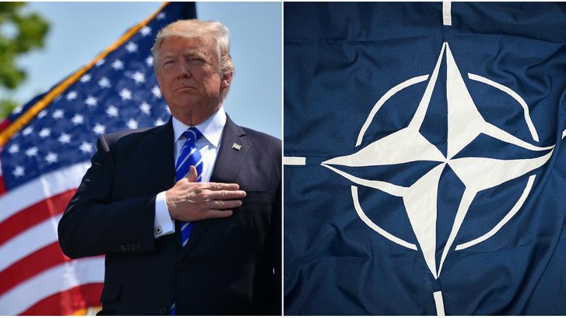 Prezydent USA Donald Trump krytykuje sojuszników z NATO
