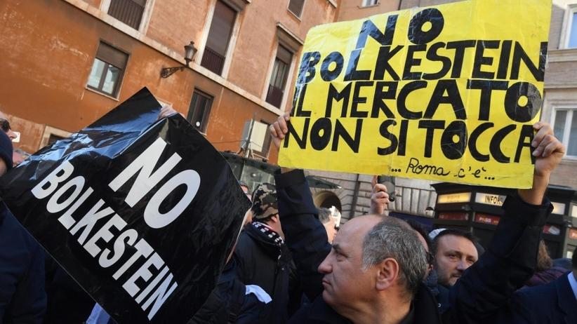 Protest kierowców taksówek przeciw Uberowi