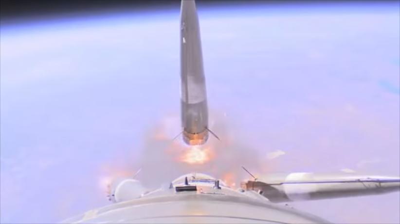 Rosja. Opublikowano dramatyczne nagranie z pokładu Sojuza
