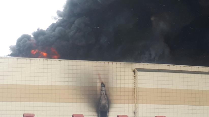 Pożar centrum handlowego