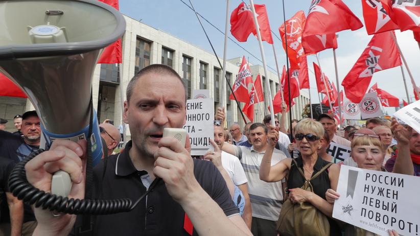 Rosja. Protesty przeciwko podniesieniu wieku emerytalnego