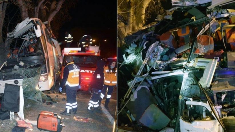 Rozpędzony autokar z dziećmi wjechał w drzewa. Zginęło 11 osób [NOWE FAKTY]