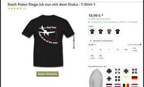 Skandaliczne koszulki w niemieckim sklepie internetowym. Nawiązują do wojny