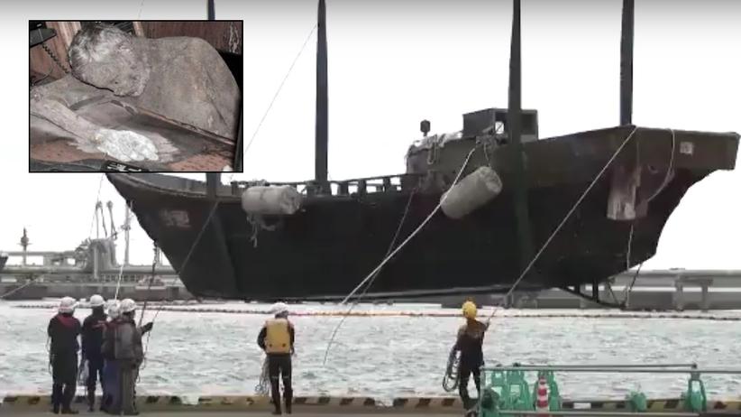 """Statek widmo dobił do brzegu. """"Ludzkie szkielety na pokładzie"""""""