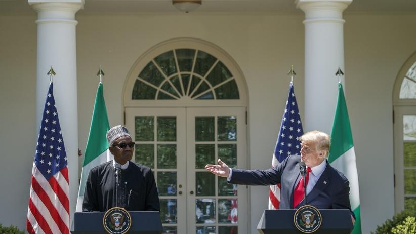 Trump i prezydent Nigerii