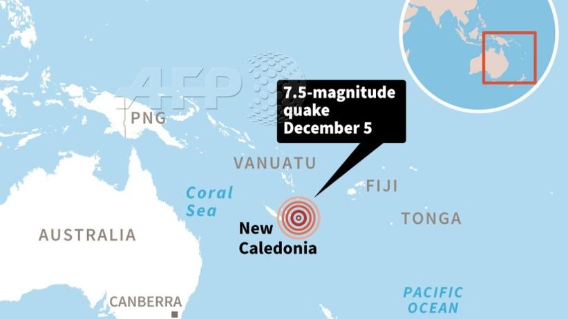 Silne trzęsienie ziemi u wschodnich wybrzeży Nowej Kaledonii. Ostrzeżenie przed tsunami
