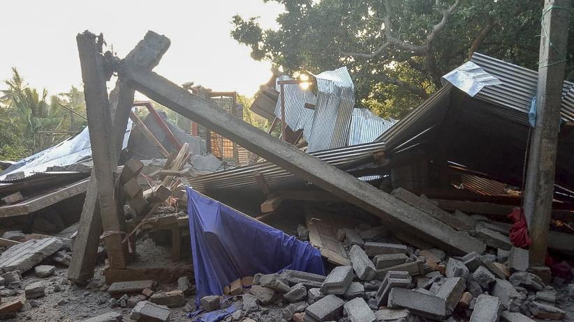 Indonezja, Lombok, trzęsienie ziemi