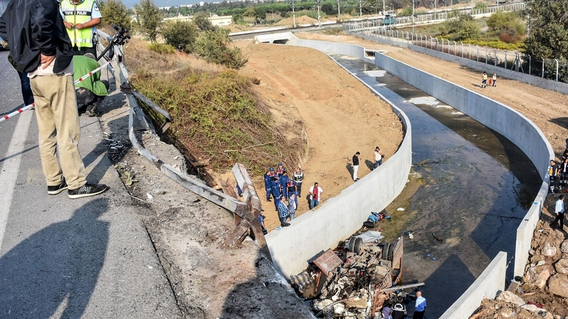 Turcja. Wypadek ciężarówki z migrantami. Co najmniej 19 zabitych