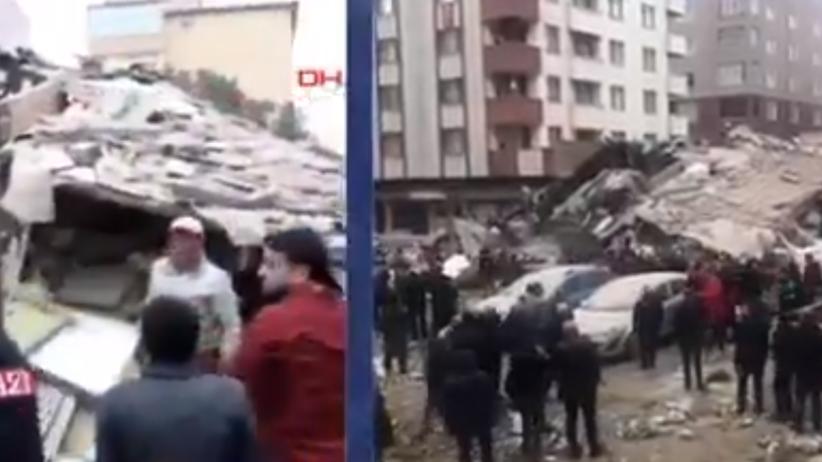 Runął budynek mieszkalny w Turcji. Jedna osoba nie żyje [WIDEO]