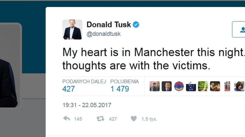 Donald Tusk złożył kondolencje rodzinom ofiar wybuchu w Manchesterze