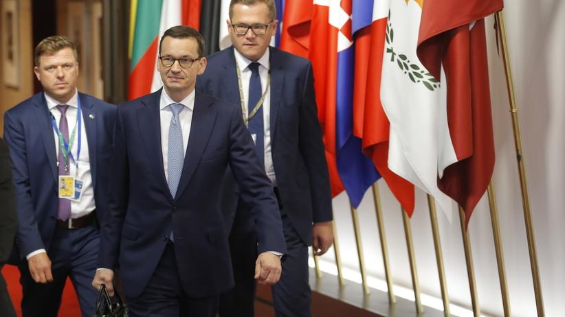 Premier Mateusz Morawiecki na szczycie unijnym